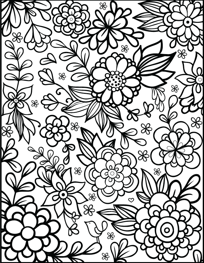 Design Flowers Coloring Pages